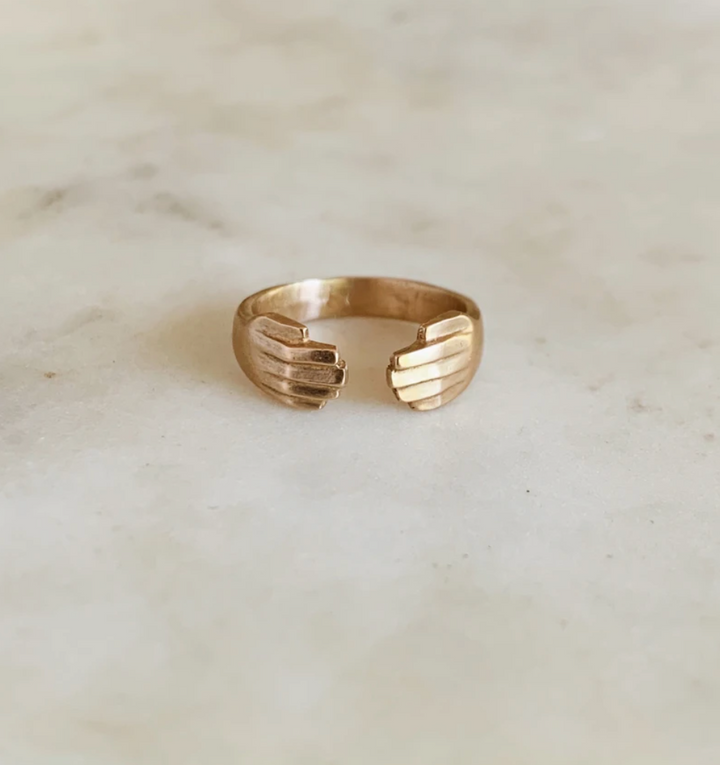 Bronze Adjustable Hug Ring