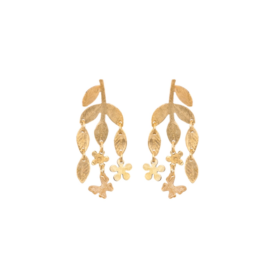Brass Sweet Spring Earrings