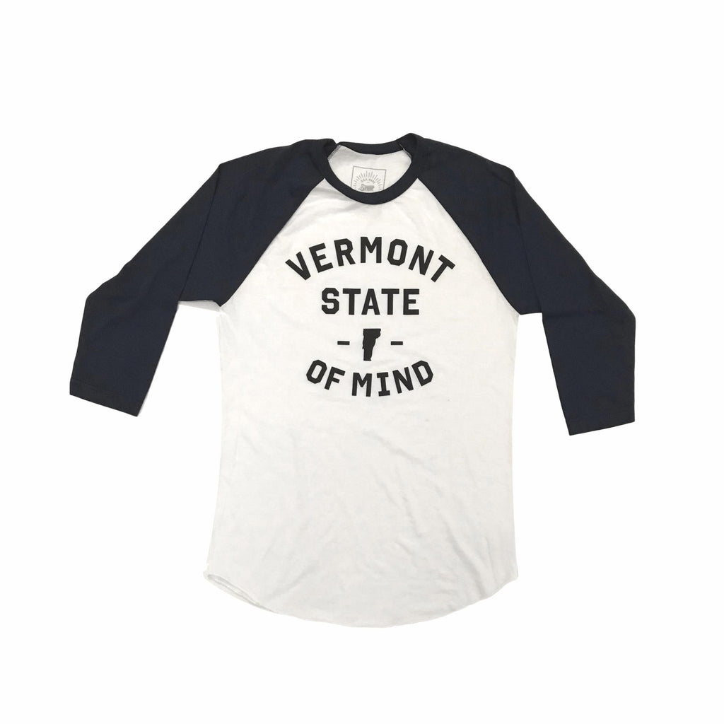 Vermont State of Mind Women's Navy Raglan