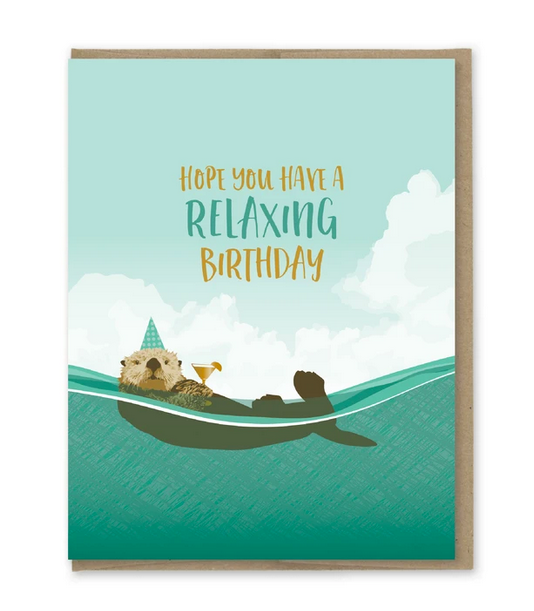 Relaxing Otter Birthday Card - MP5