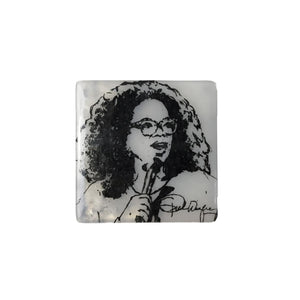 Oprah Winfrey Glass Coaster