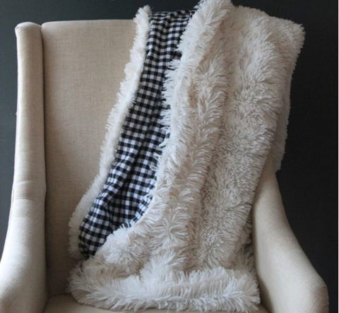 Faux Fur and Flannel Blanket