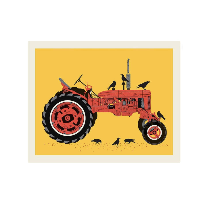 Red Tractor Screenprint - 16 x 20