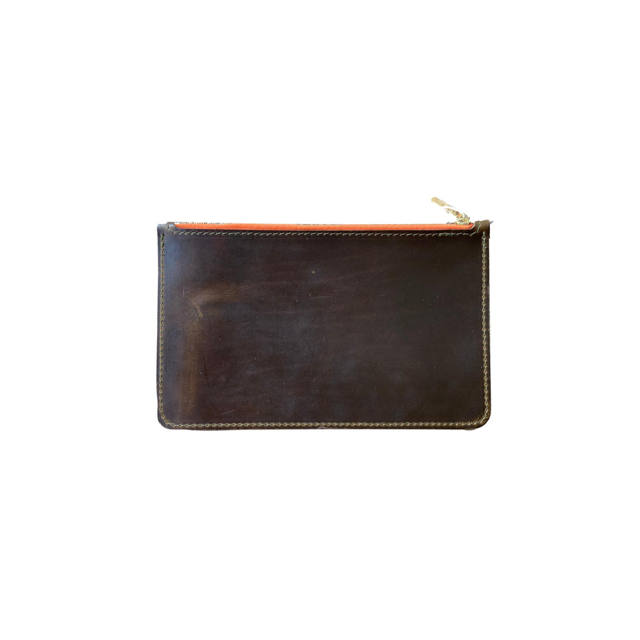 Medium Leather Zip Pouch