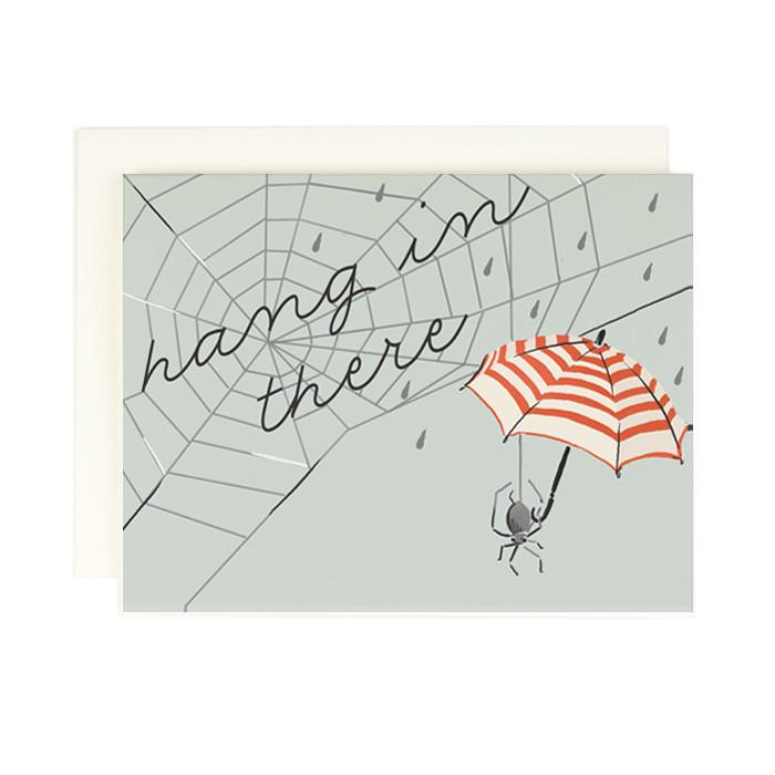 Hang in there spider umbrella card - AH3