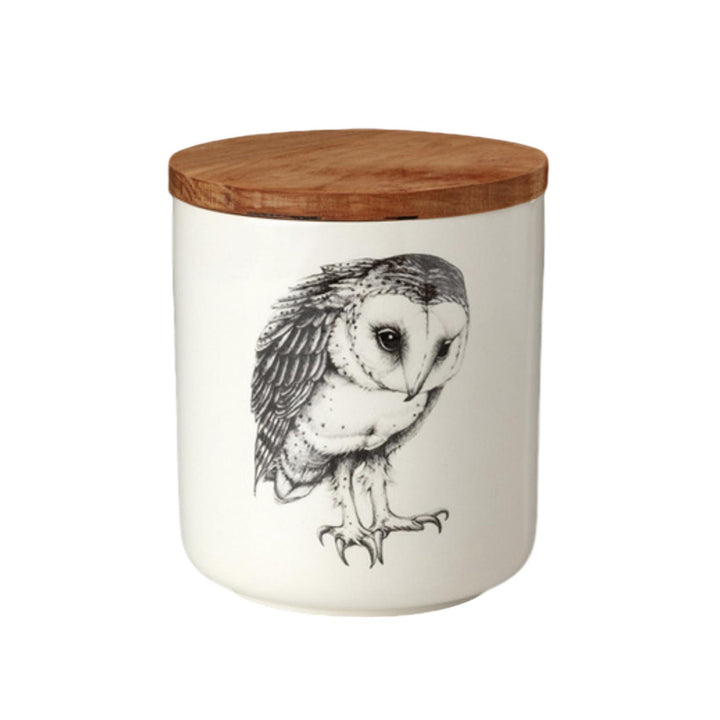 Laura Zindel Small Canister - Barn Owl
