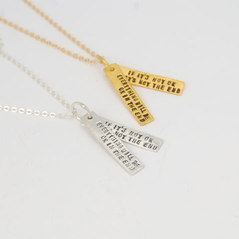 John Lennon Quote Necklace