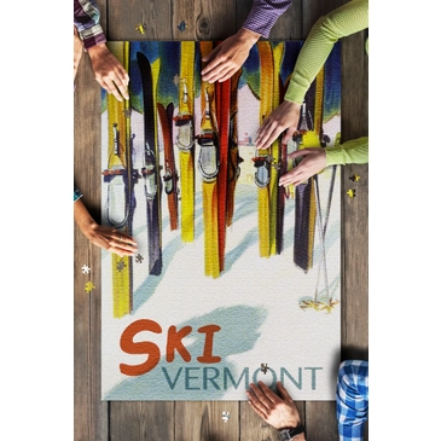 Colorful Ski Vermont Puzzle - 1000 Piece