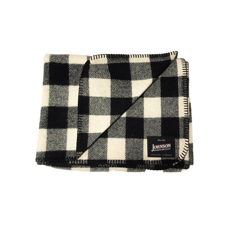 Johnson Woolen Mills Norris Throw - White Buffalo Check