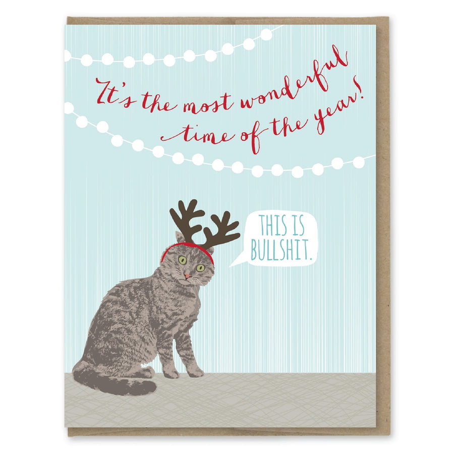 Holiday Cat Antlers Card - MP7