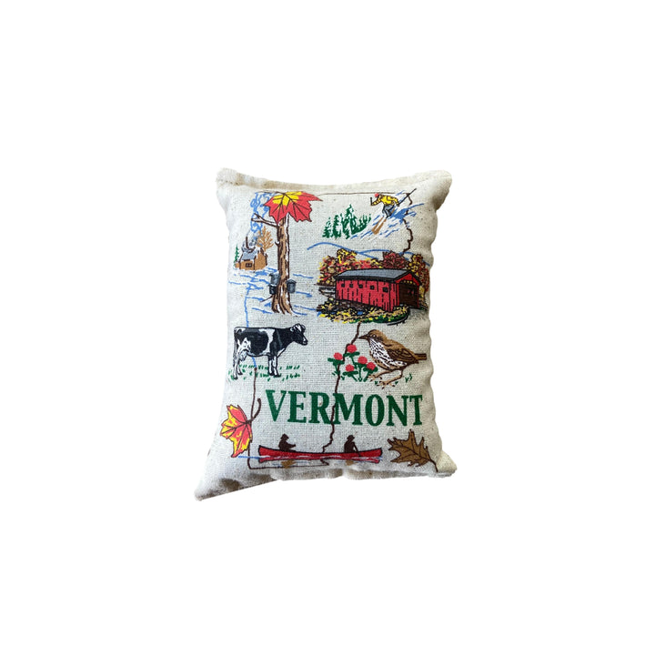 Vermont Map Embroidered Balsam Pillow