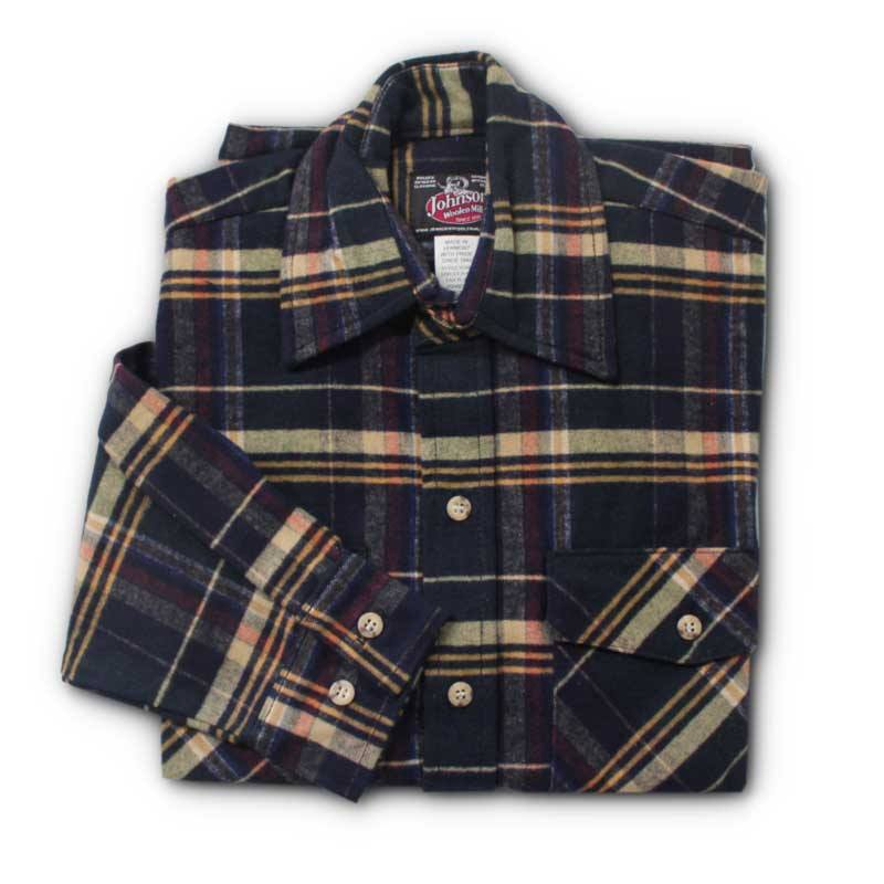 Spruce/Navy Plaid Men's Flannel Shirt
