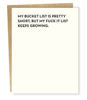 Bucket List Card - SP2