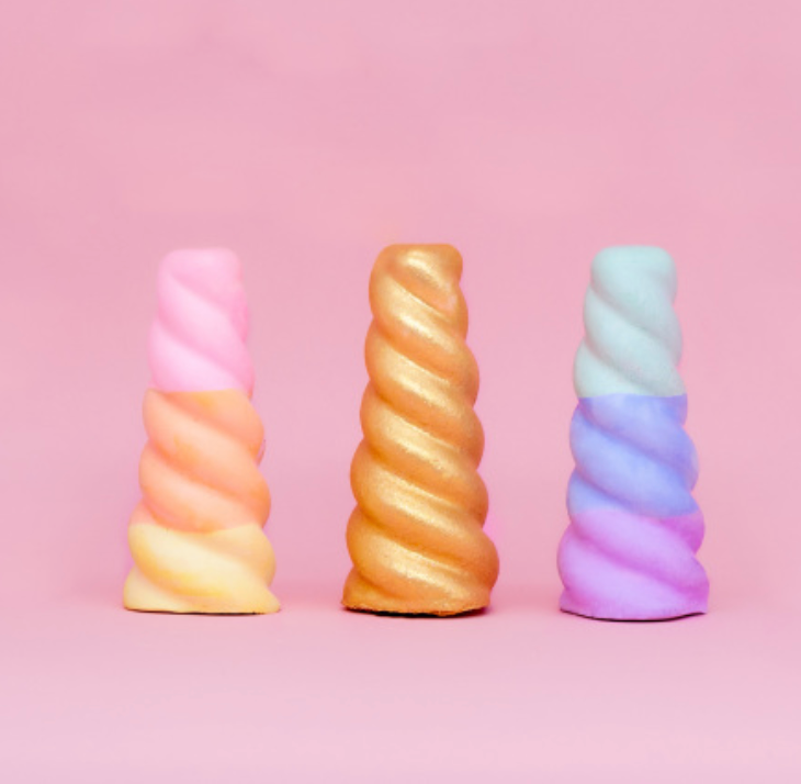 Unicorn Horns Sidewalk Chalk - Pack of 3