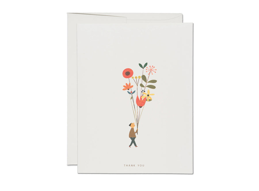 Long Stem Thank you Card - RC