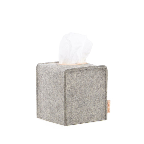 Granite Grey Felt Tissue Box Cover
