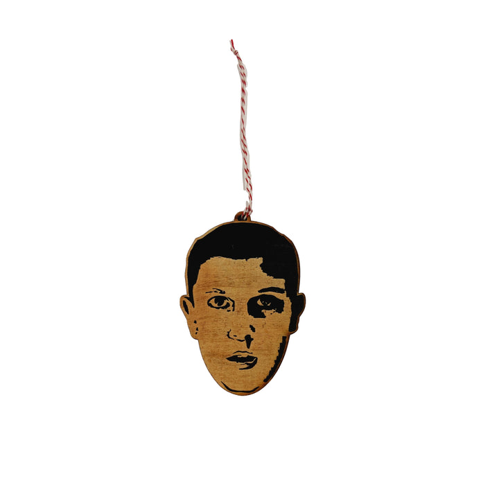 Famous Face Wooden Ornament - Eleven from Stranger Things (Millie Bobby Brown)