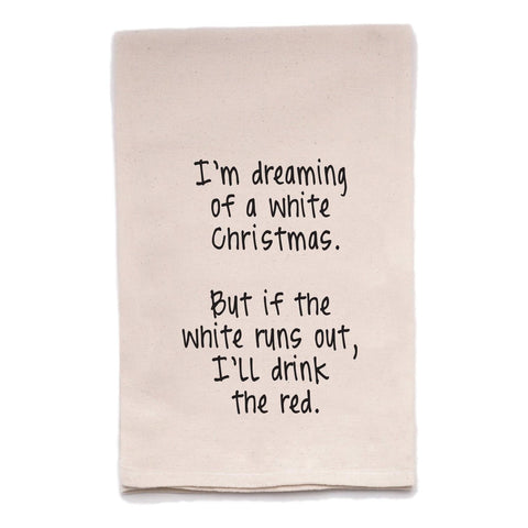White Christmas Tea Towel