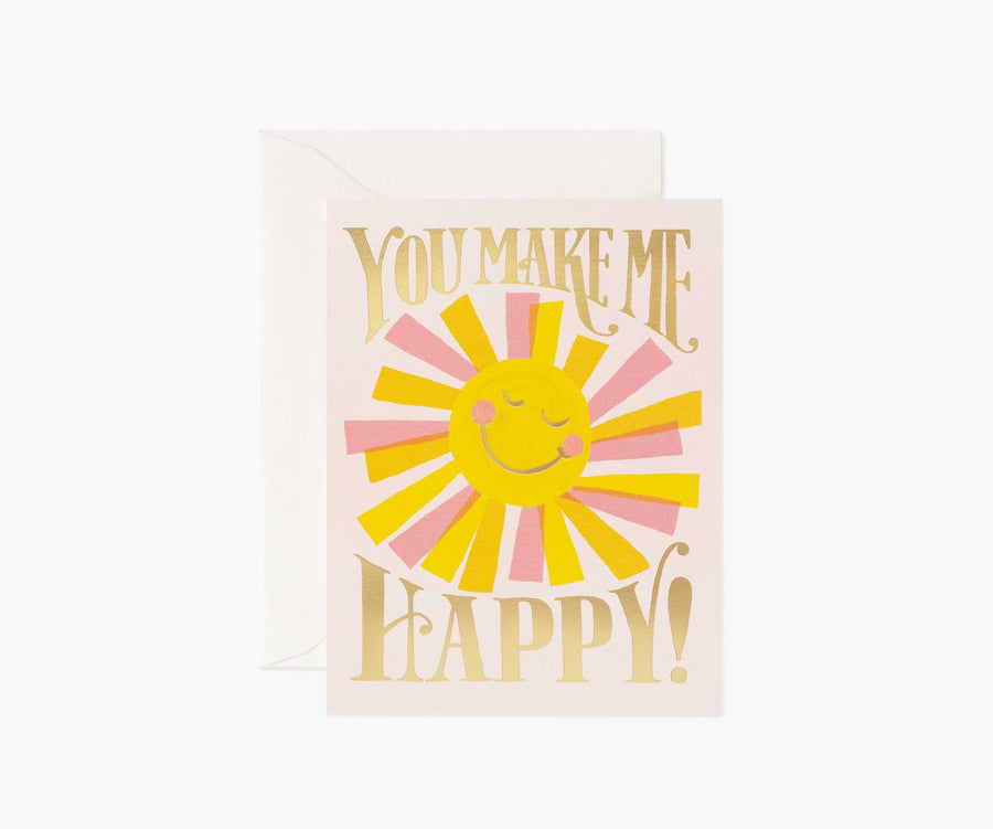 You Make me Happy Sun Card - RP1
