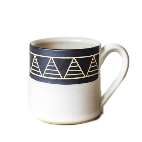 White Triangle Mug