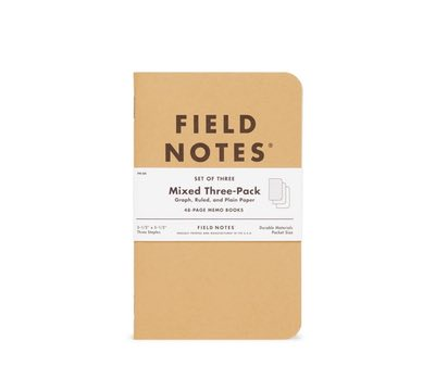 Field Notes 3-Pack Notebooks Mixed
