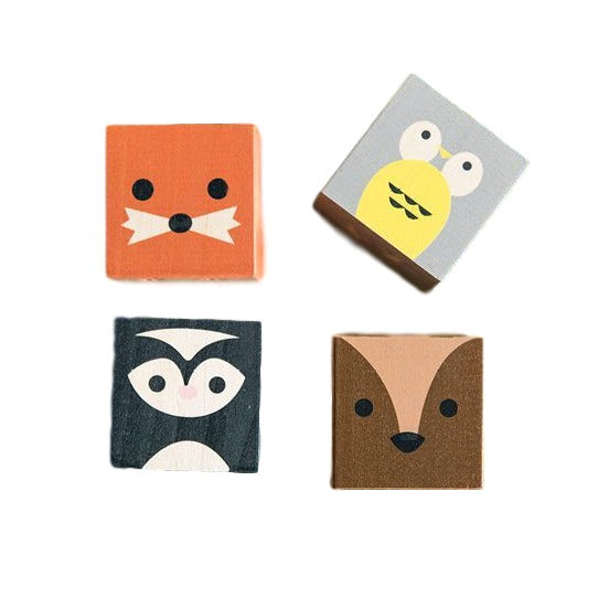 Cubelings Wooden Blocks -Forest Creatures