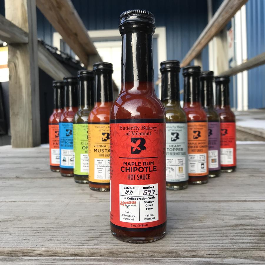 Maple Rum Chipotle Hot sauce