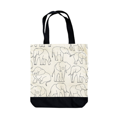 Elephants Canvas Tote