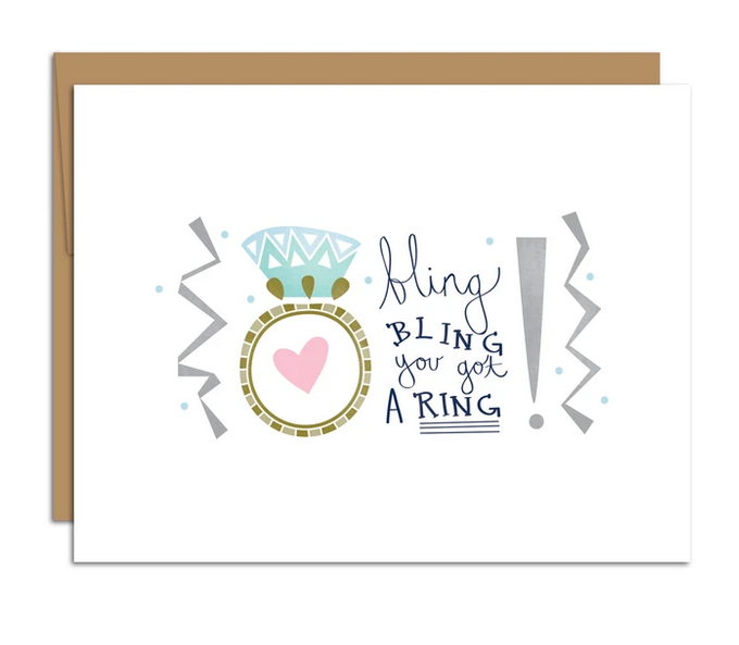 Bling Bling You Got A Ring Card - HM4