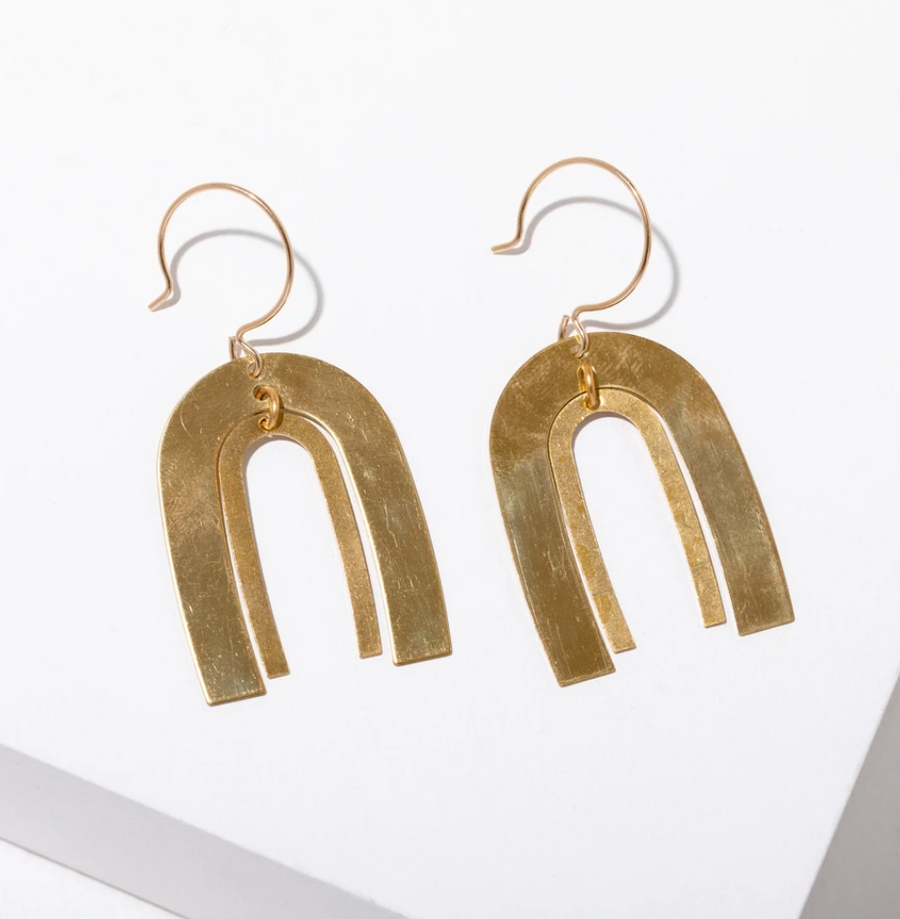 Brass Poehler Earrings