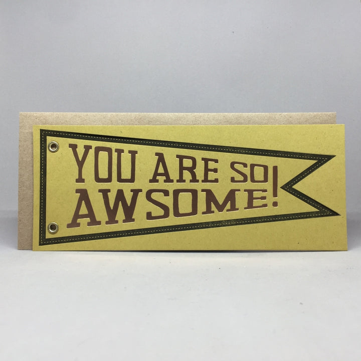 You are So Awesome Card - BW1
