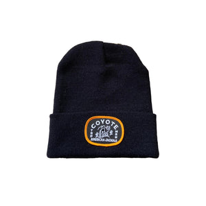 Coyote Provisions Black Beanie with American Jackals Patch