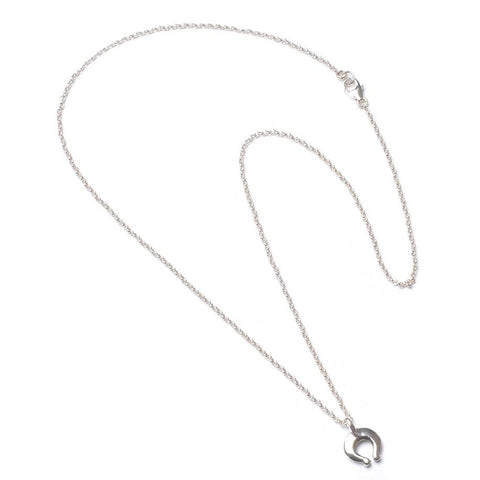 Aspen Crescent Silver Necklace