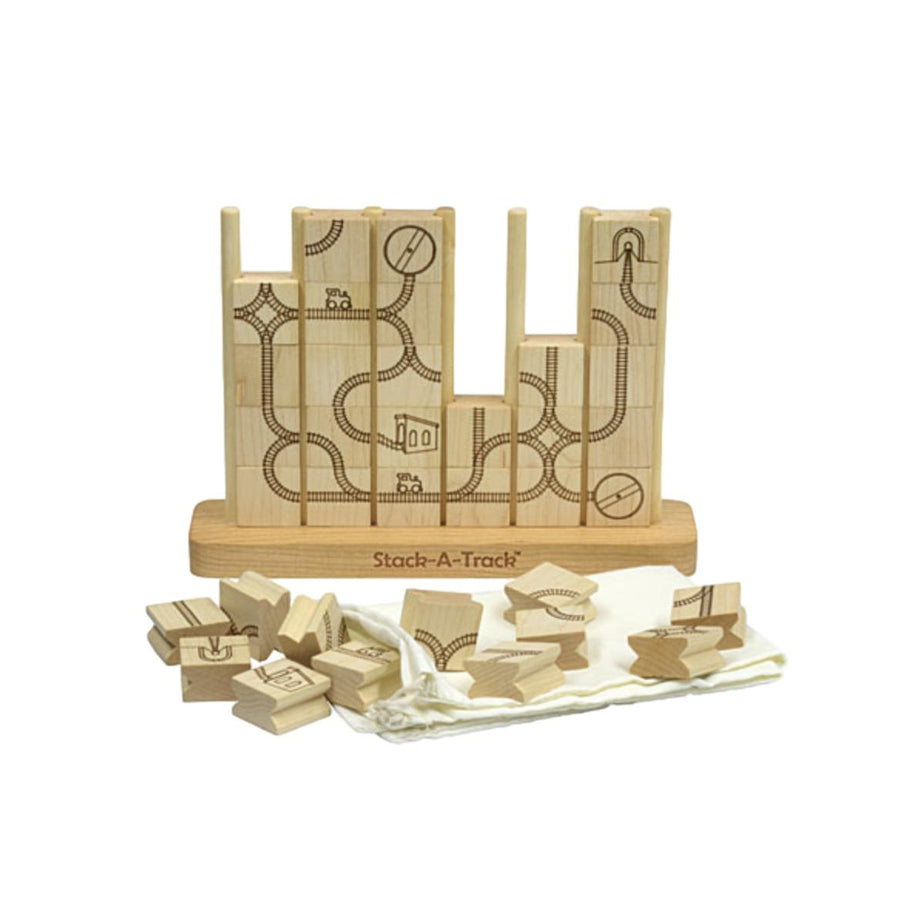 Stack-A-Track Wooden Game