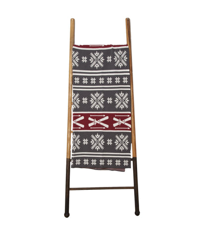 Eco Fair Isle Throw - Smoke / Pomegranate