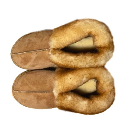 Made in Vermont Shearling Sheepskin Slippers Short Cuff, Men's Sizes