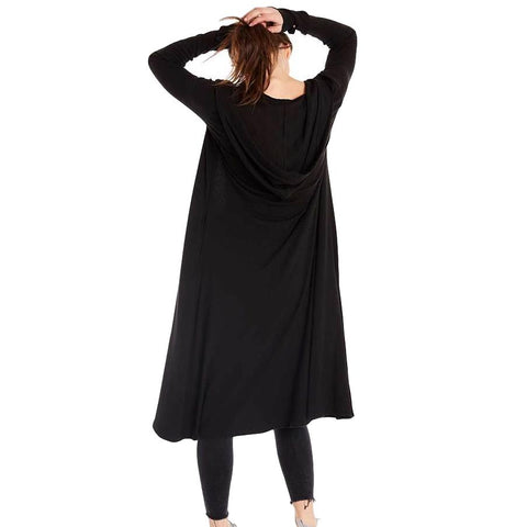 Iris Long Black Cardigan