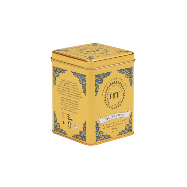 Yellow & Blue Tea - Tin of 20 Sachets