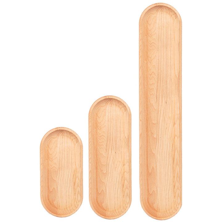 Rounded Maple Appetizer Plates
