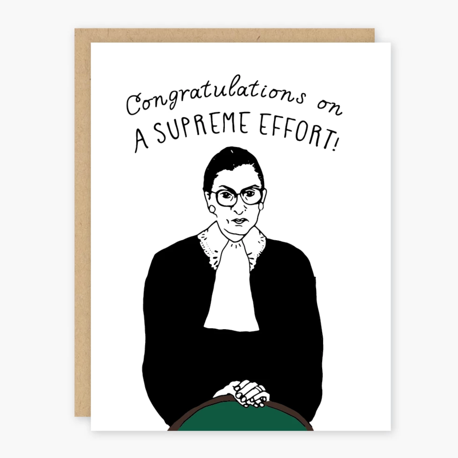 Congrats Ruth Bader Supreme Effort Card - PO4