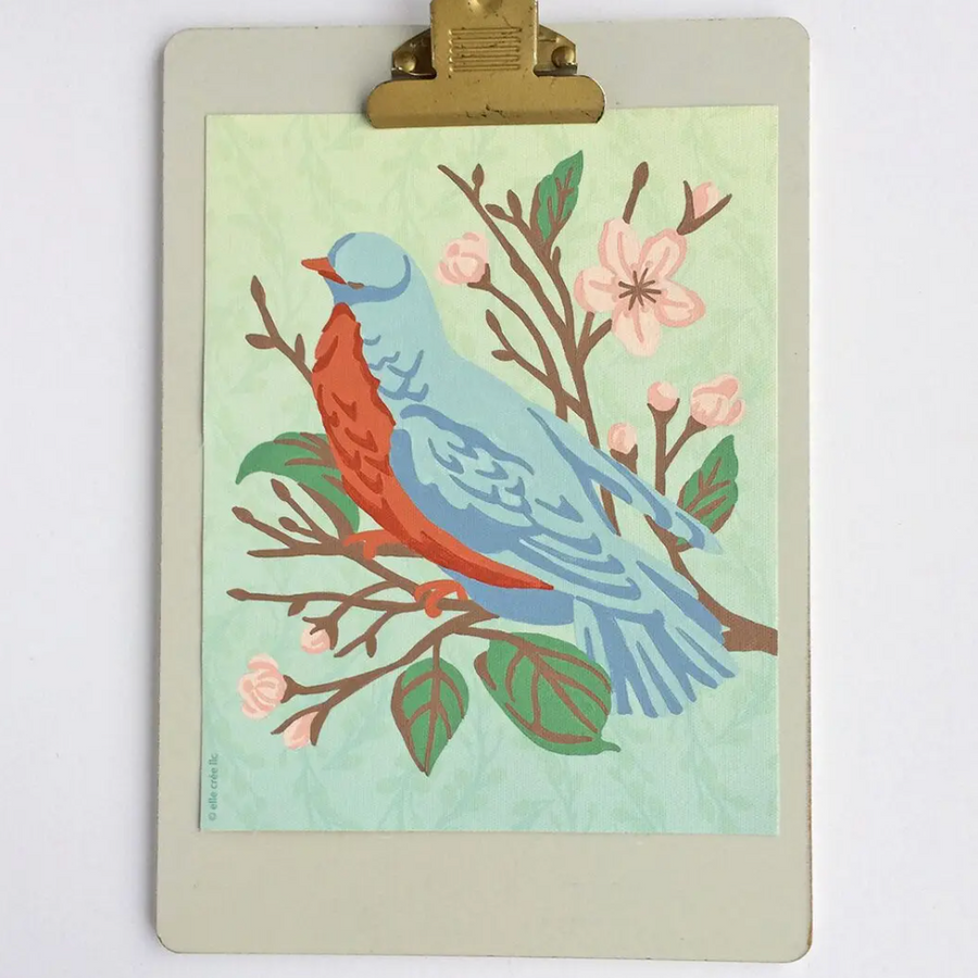 Paint by Numbers Kit - Bird on a Cherry Blossom