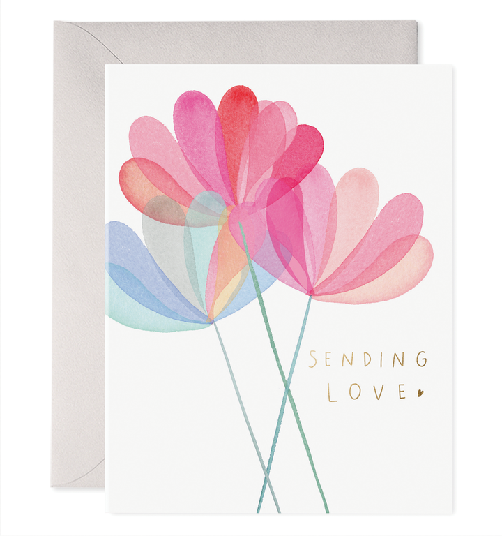 Sending Love Flower Card -EF1