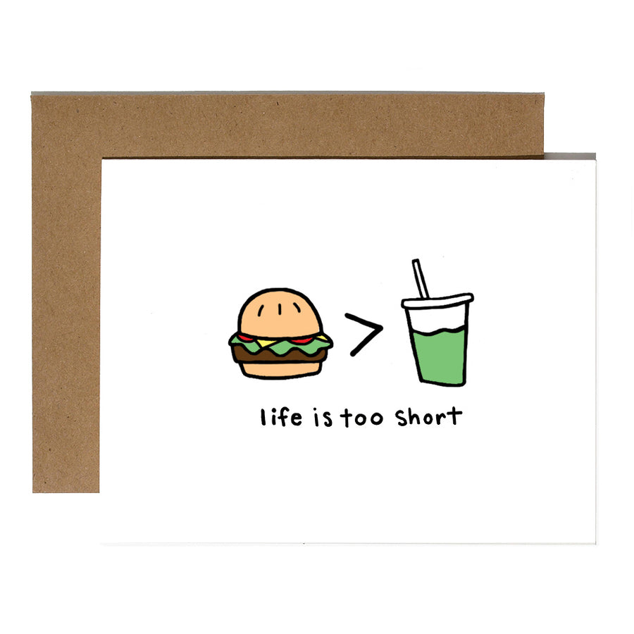 LIfe is too Short for green drinks card - BP2