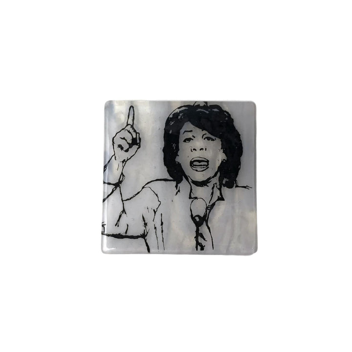 Maxine Waters Glass Coaster