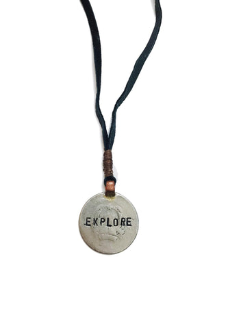Mantra Coin Necklace - Explore