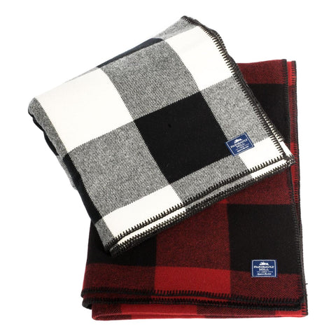 Faribault Oversized Buffalo Check Twin Blanket