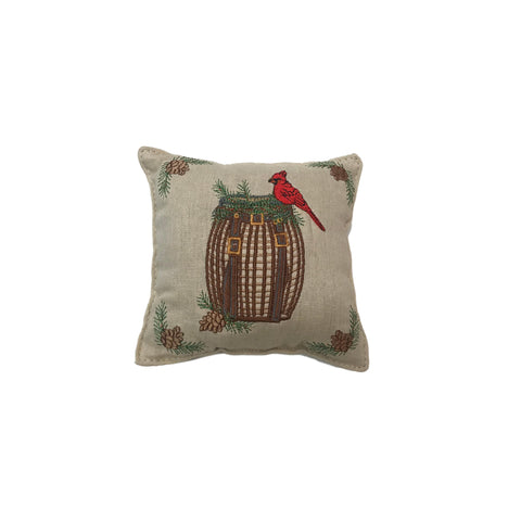 Embroidered Adirondack Basket Balsam Pillow