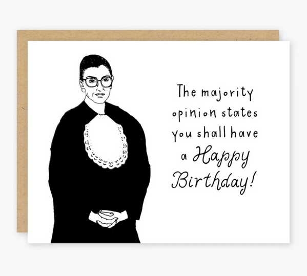 RBG Majority Opinion Birthday Card - PO5