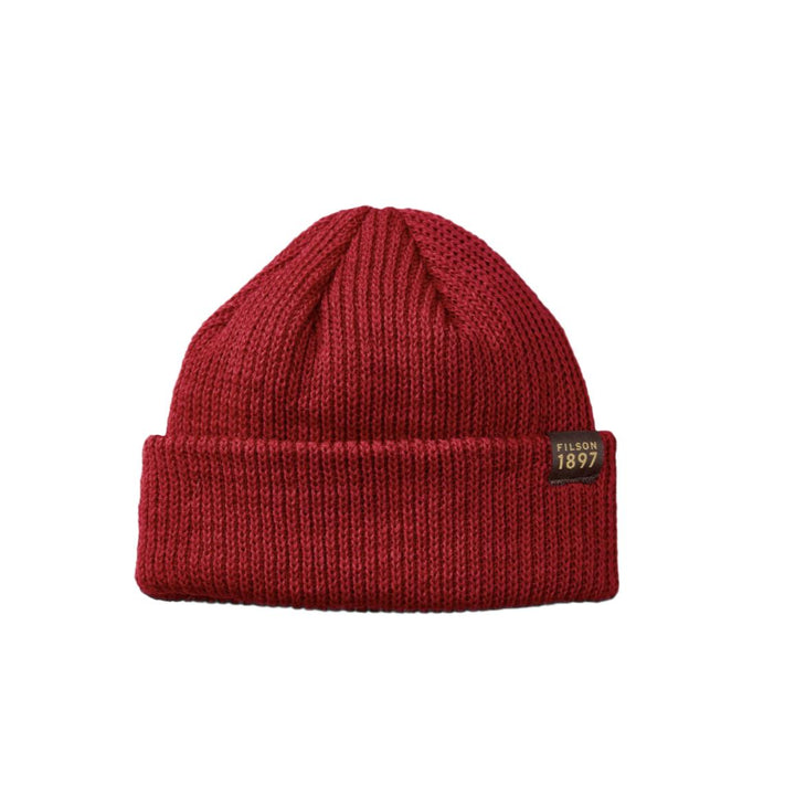 Filson Watch Cap Wool Beanie - Red