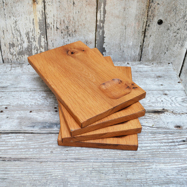 Reclaimed Wood Sandwich Plates Set of Two